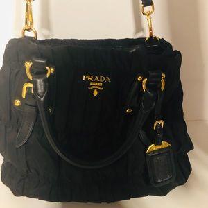 Prada Nylon Jacquard Shoulder Bag